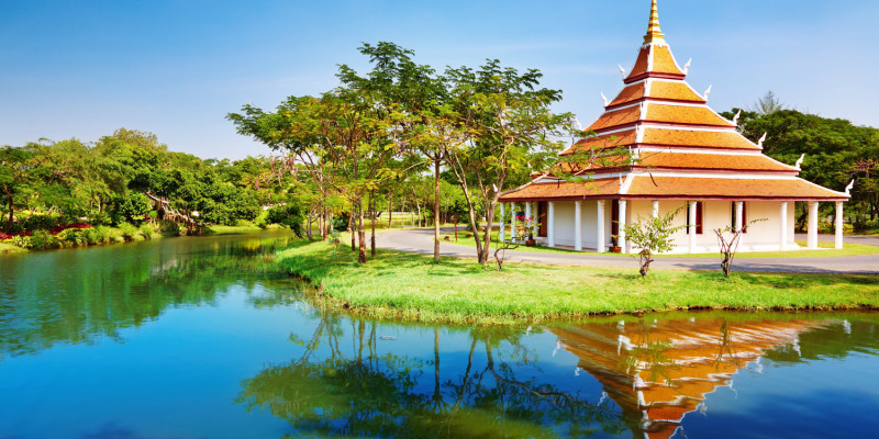 The Mondop Housing Footprints of the Lord Buddha, Thailand